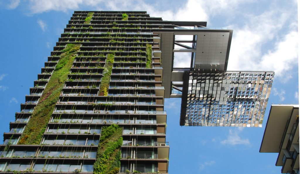 Hanging gardens of One Central Park, Sydney. Wikipedia